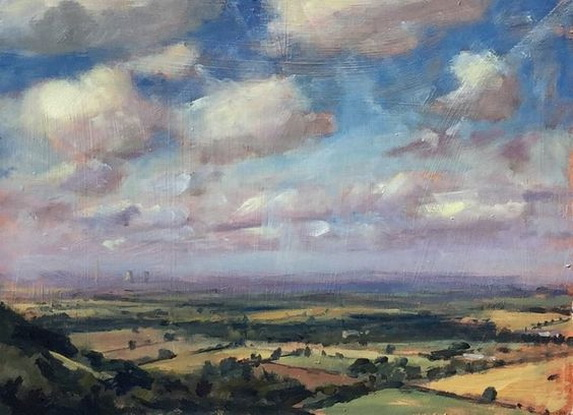Alice Boggis-Rolfe - The Chilterns From Aston Rowant