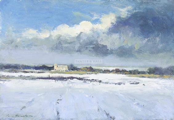 Ian Houston -  Winter Landscape at Salthouse