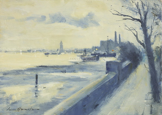 Ian Houston -   The Thames Near Cheyne Walk