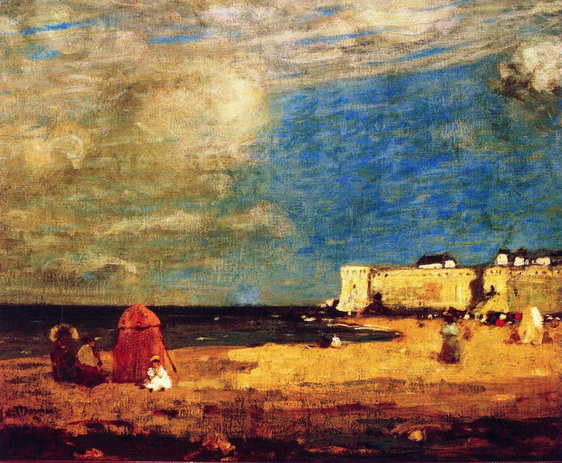 James Wilson Morrice - The Beach, Saint-Malo