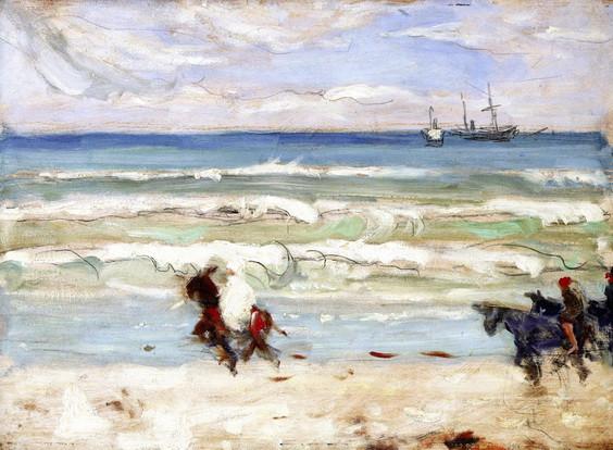James Wilson Morrice - Beach Scene, Tangier