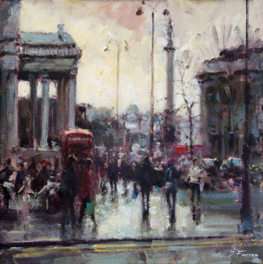 David Farren - Clearing Skies towards Trafalgar Square