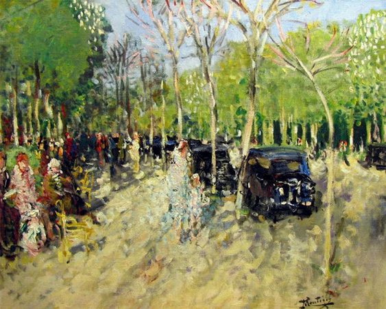 Pierre Montezin - Printemps au Bois de Boulogne