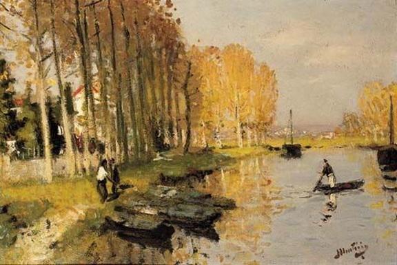 Pierre Montezin - automne-au-bord-du-loing