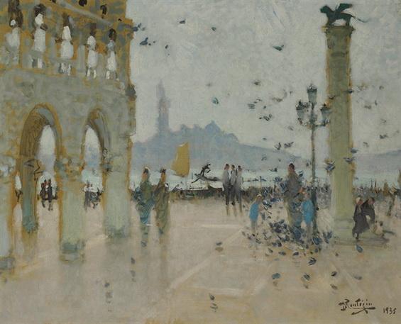 Pierre Montezin -  Venise, Palace Saint-Marc