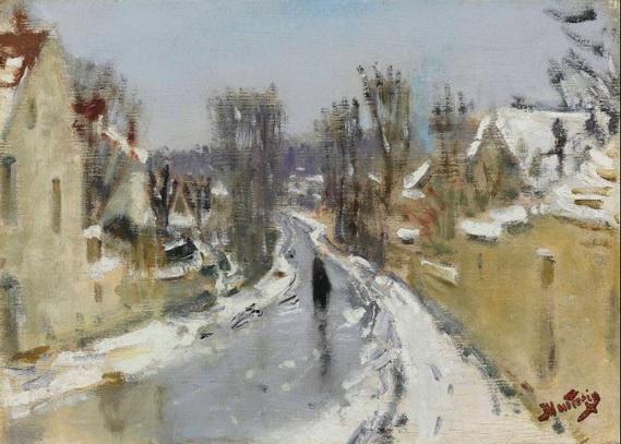 Pierre Montezin -  Route sous la neige