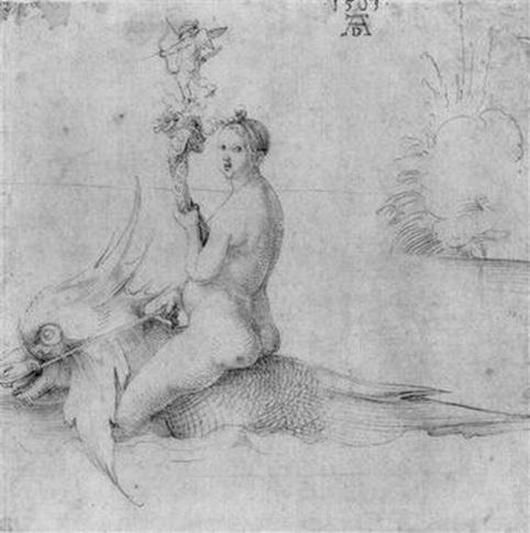 Albrecht Durer - Venus on a dolphin