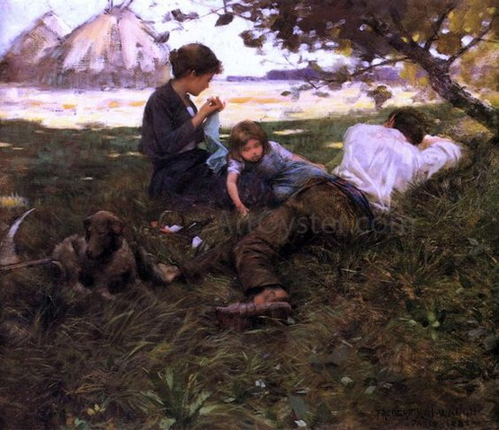 F.J. Waugh - Family Resting under a Tree