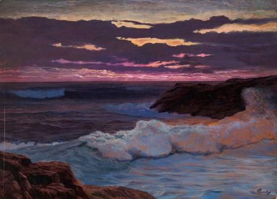 F.J. Waugh -  Sea at Sunset
