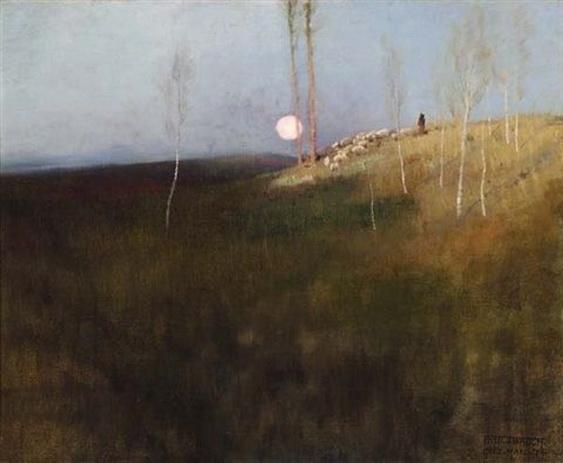 F.J. Waugh - Moonlight meadows
