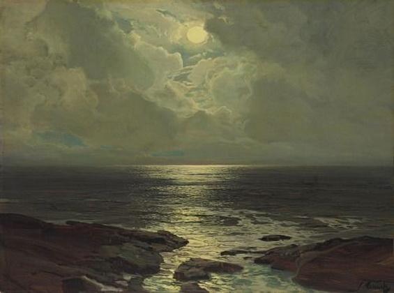 F.J. Waugh - Moonlit Coast