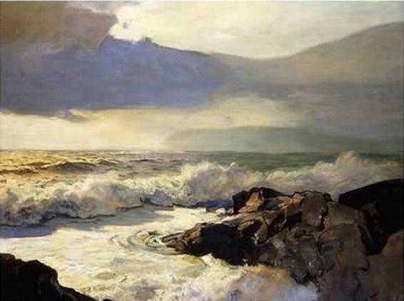 F.J. Waugh - Rain Clouds and Sea