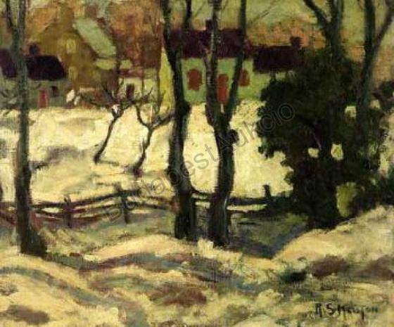 Randolph Stanley Hewton - Winter landscape