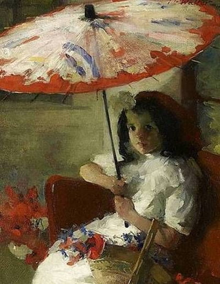 Martha Walte - Girl with Parasol