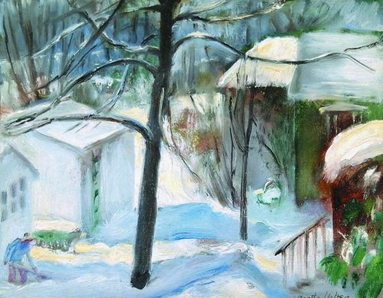 Martha Walte - Shoveling Snow
