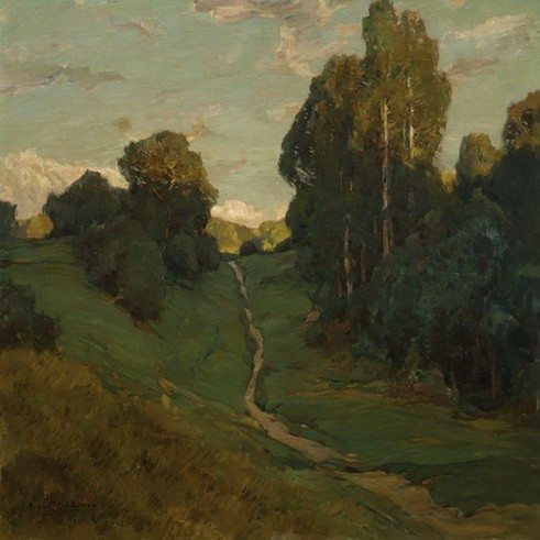 Rupert Bunny - French Landscape with Country Path