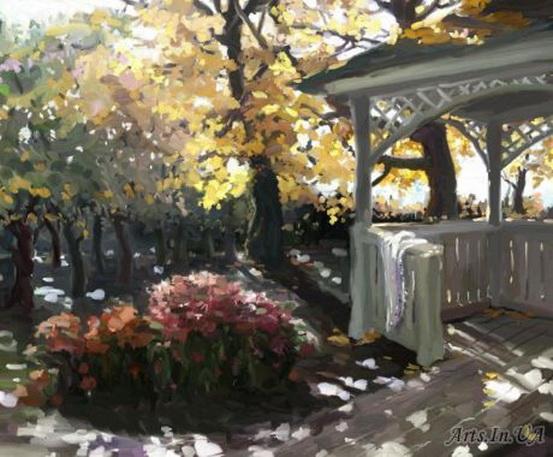 Юшина - В саду