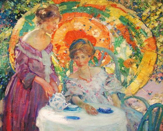 Richard Emil Miller - Женщины с зонтиком