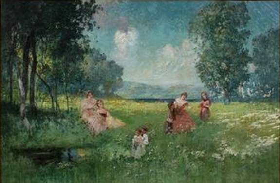 Catherine Wiley - Landscape with Women and Children