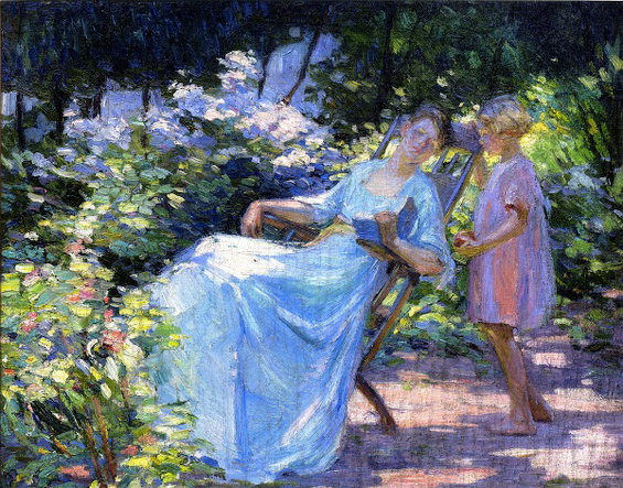 Catherine Wiley - Mother And Daughter In A Garden