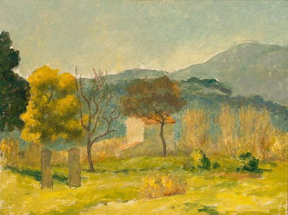Rupert Bunny - Cemetery, south of France