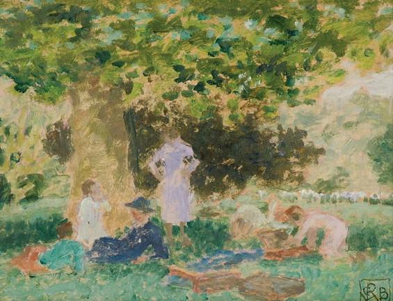 Rupert Bunny - In the Gardens