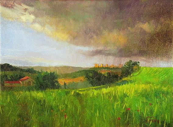 Peter Fiore - Storm Over Monteriggioni