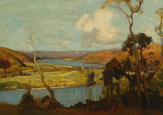 Sydney Long - Hawkesbury landscape