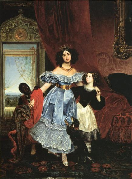 Брюллов - Портрет графини Ю. П. Самойловой с воспитанницей Джованиной
