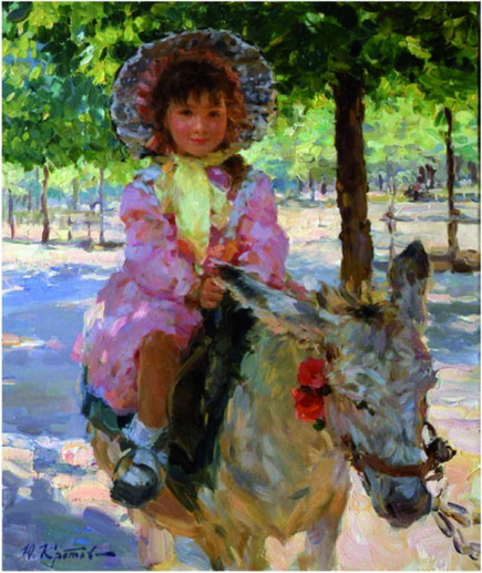 Yuriy Krotov - A girl on the donkey