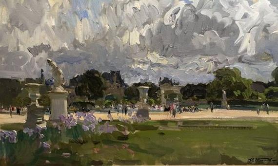 Yuriy Krotov -  The boating pond, Tuileries gardens Paris