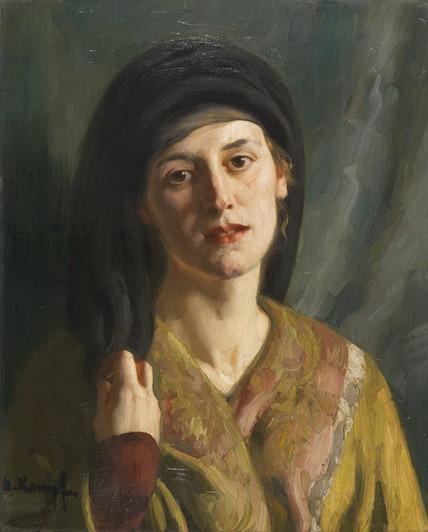 arthur kampf - Portrat einer Frau