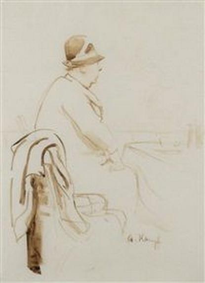 arthur kampf - Sitzende im Cafe