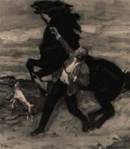 arthur kampf - Mann mit sich aufbaumenden