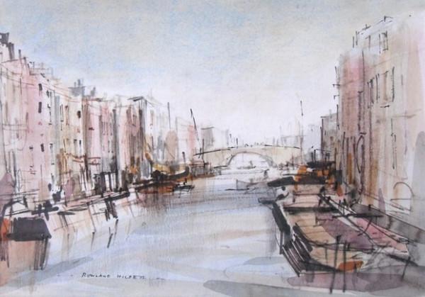 rowland hilder-canal scene