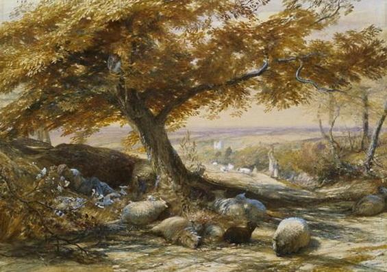 Samuel Palmer - Sheep in the Shade