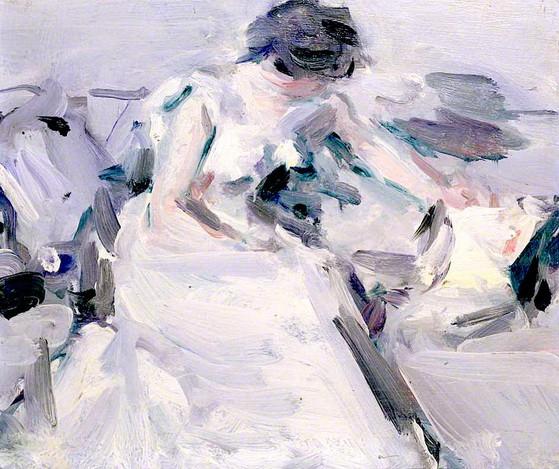 Samuel John Peploe Lady in a White Dress