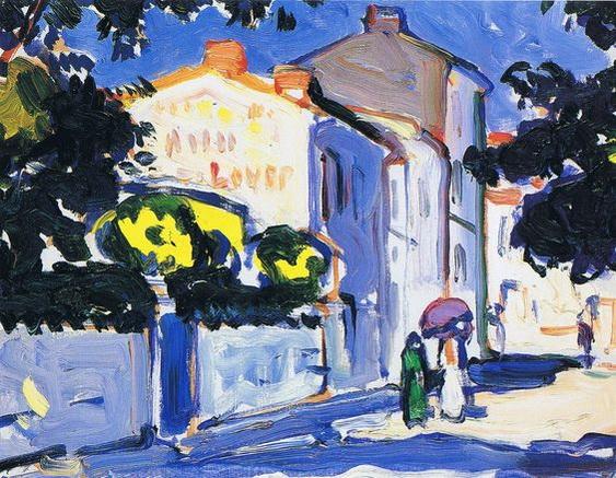 Samuel John Peploe Sunlit Street, Royan