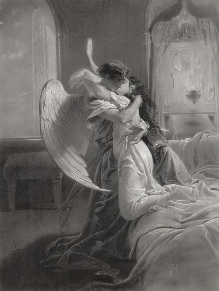 М. Зичи -  Тамара и демон. Поцелуй