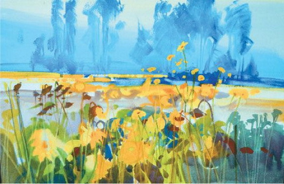 Stephen Quiller - Sunflowers 2