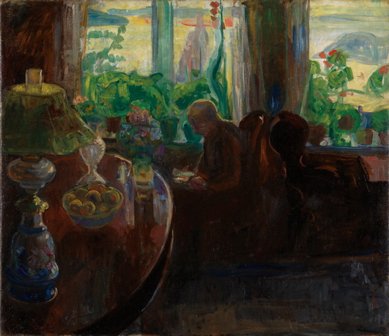 Thorvald Erichsen - Interior med Oluf Wold