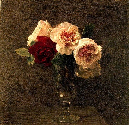 Henri Fantin-Latour - Pink and red Roses