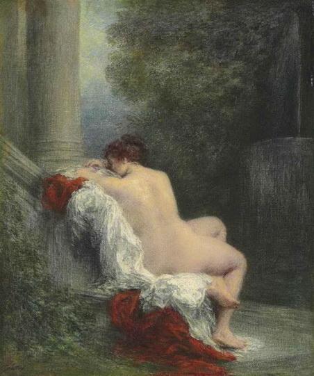 Henri Fantin-Latour - Le repose dans le parc