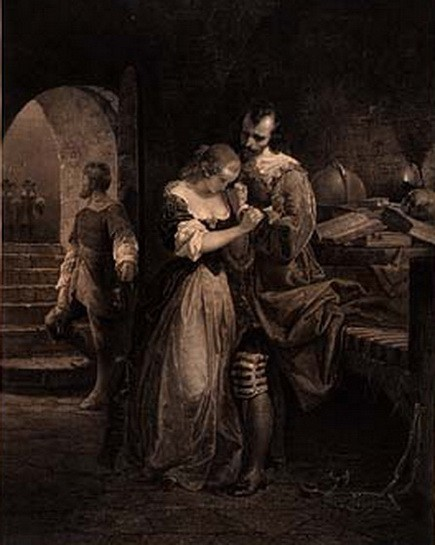 Emanuel Leutze -   Sir Walter Raleigh Parting with His Wife