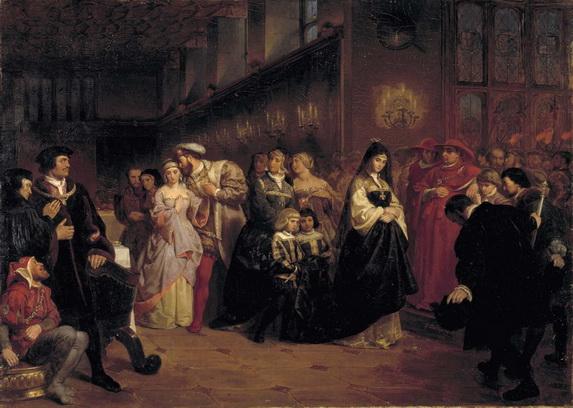 Emanuel Leutze - The Courtship of Anne Boleyn