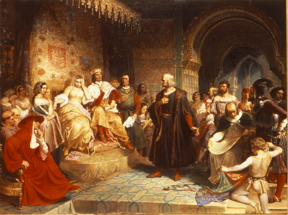 Emanuel Leutze - Columbus Before the Queen