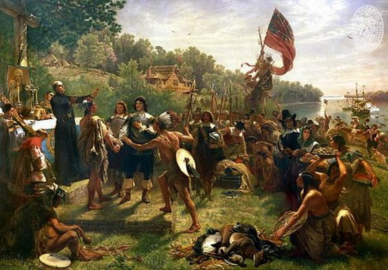 Emanuel Leutze -  Settlement of Maryland by Lord Baltimore