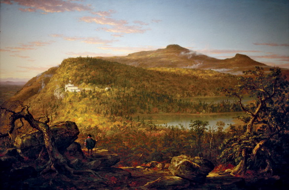 Thomas Cole - A View of the Two Lakes