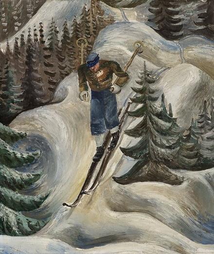 Per Krohg - Skiloper, 1931