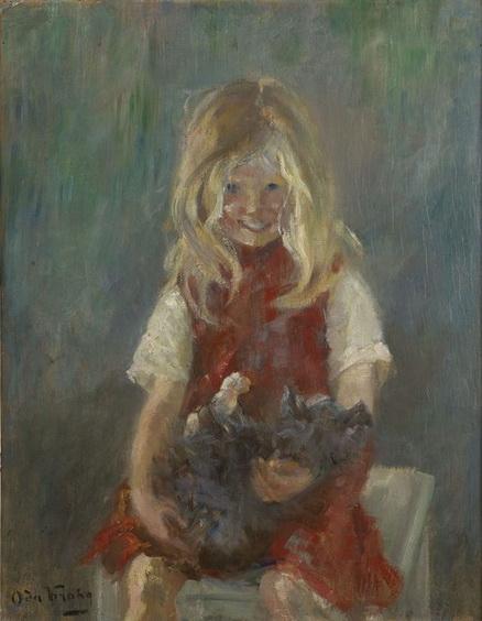 Oda Krohg - Ingrid mit Katze